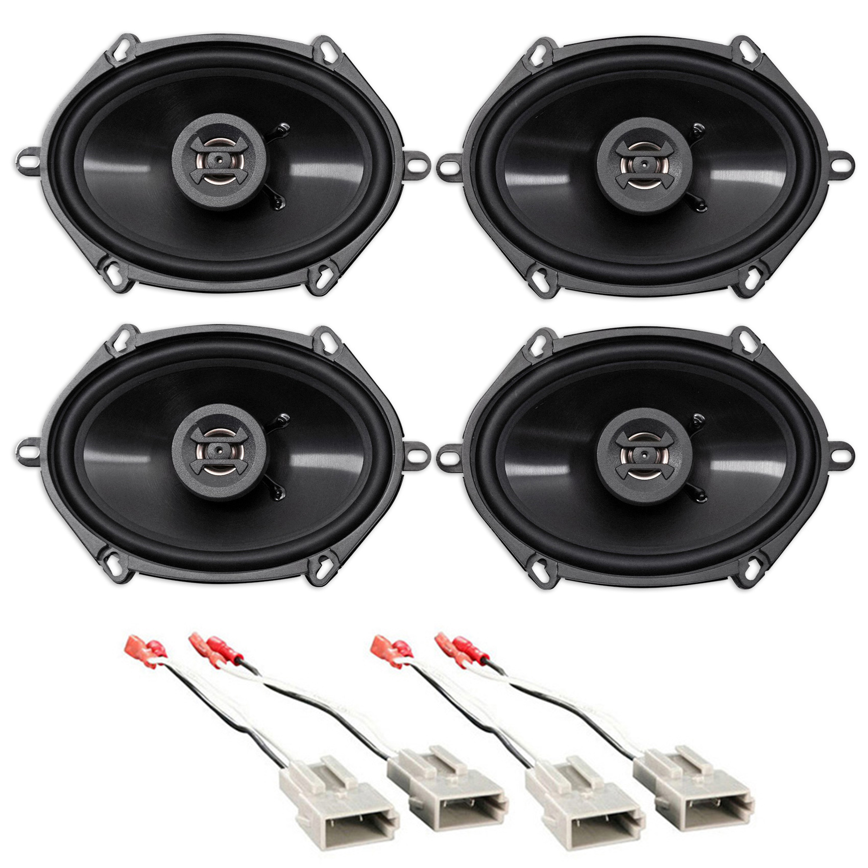 Car Rear Hifonics Factory Speaker Replacement Kit For 2003-2011 Lincoln Town