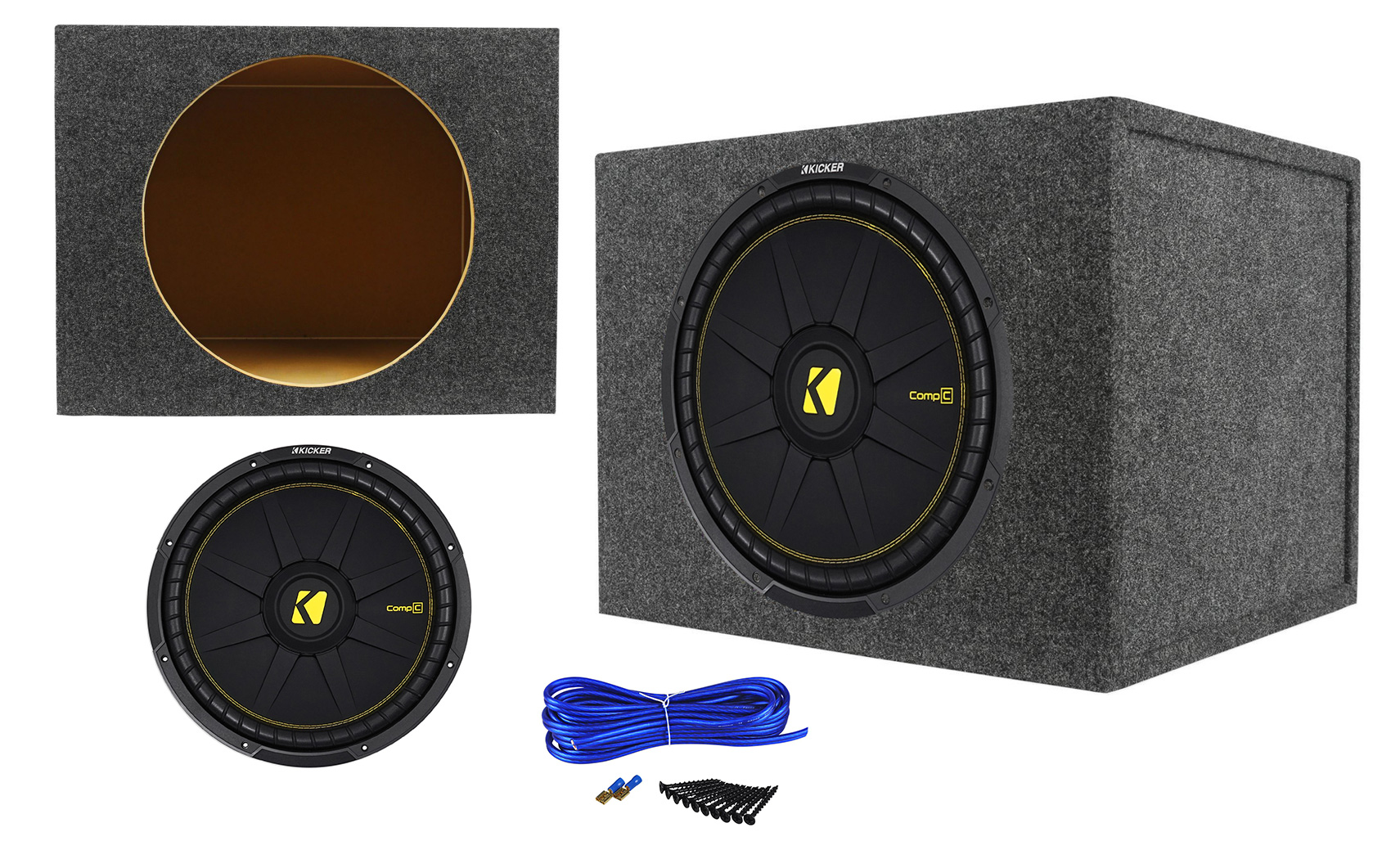 "KICKER 44CWCD154 CAR AUDIO 15/""COMPC SERIES SUBWOOFER SUB WOOFER DVC 4OHM CWCD154"