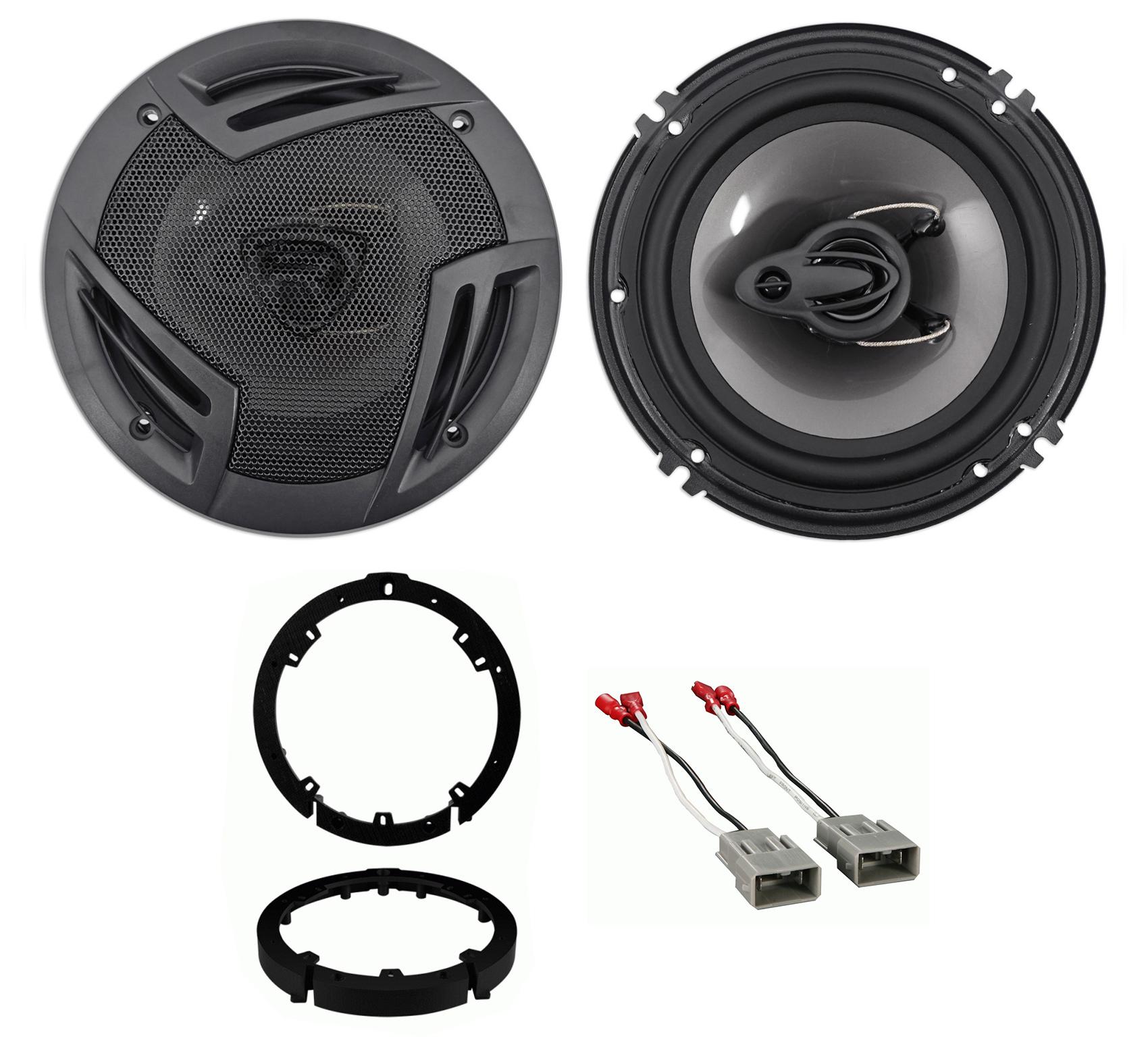 """Rockville 600 Watt 6.5"""" Front Speaker Replacement Kit For"""