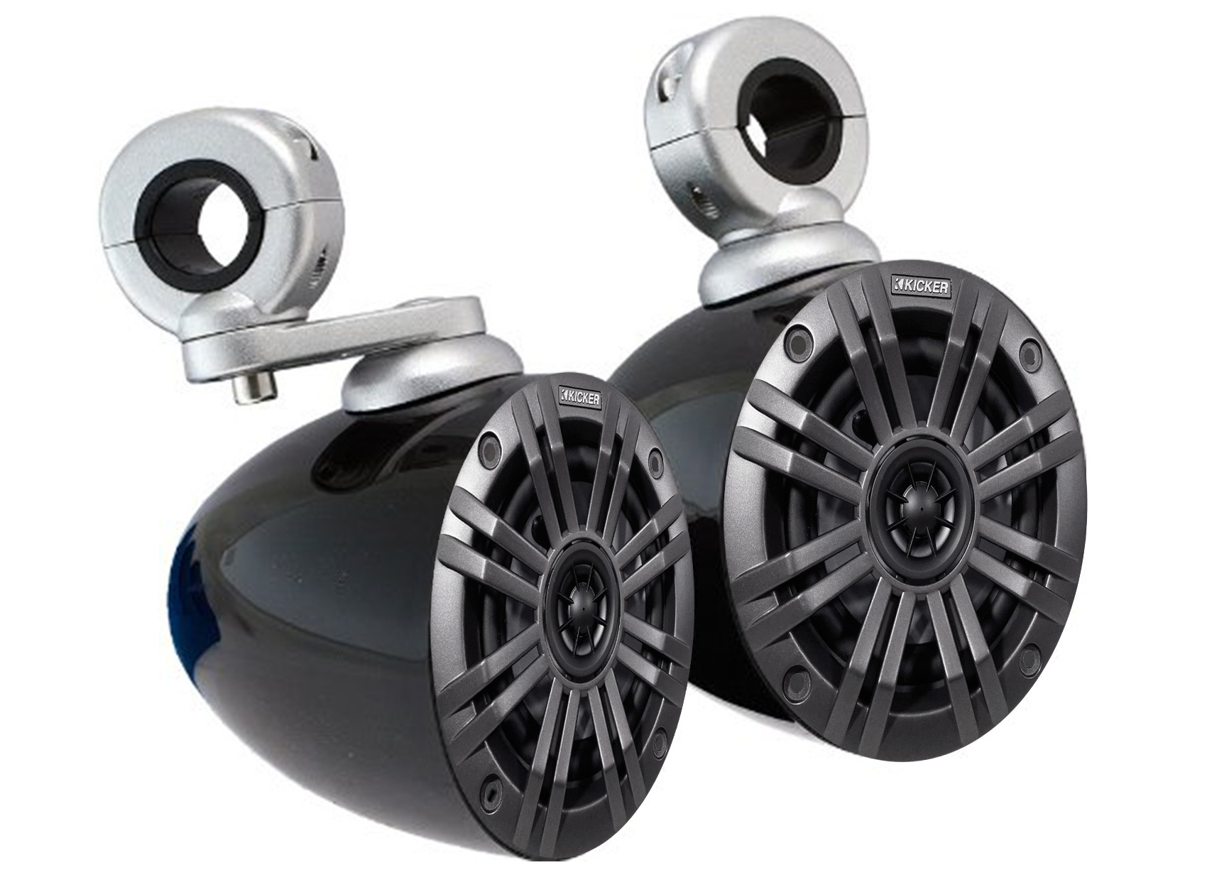 "Pair Kicker 45KM42 4/"" 150 Watt Weatherproof Rollbar Tower Speakers 4 ATV//UTVCART"
