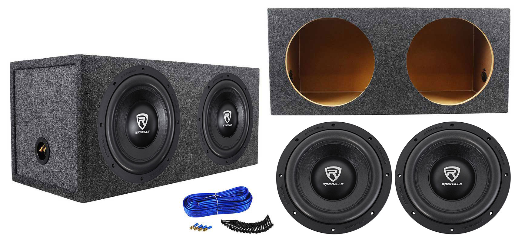 +Sealed Box Enclosure 2 Pack Boss CH10DV 3000W Car Subwoofers Subs Woofers
