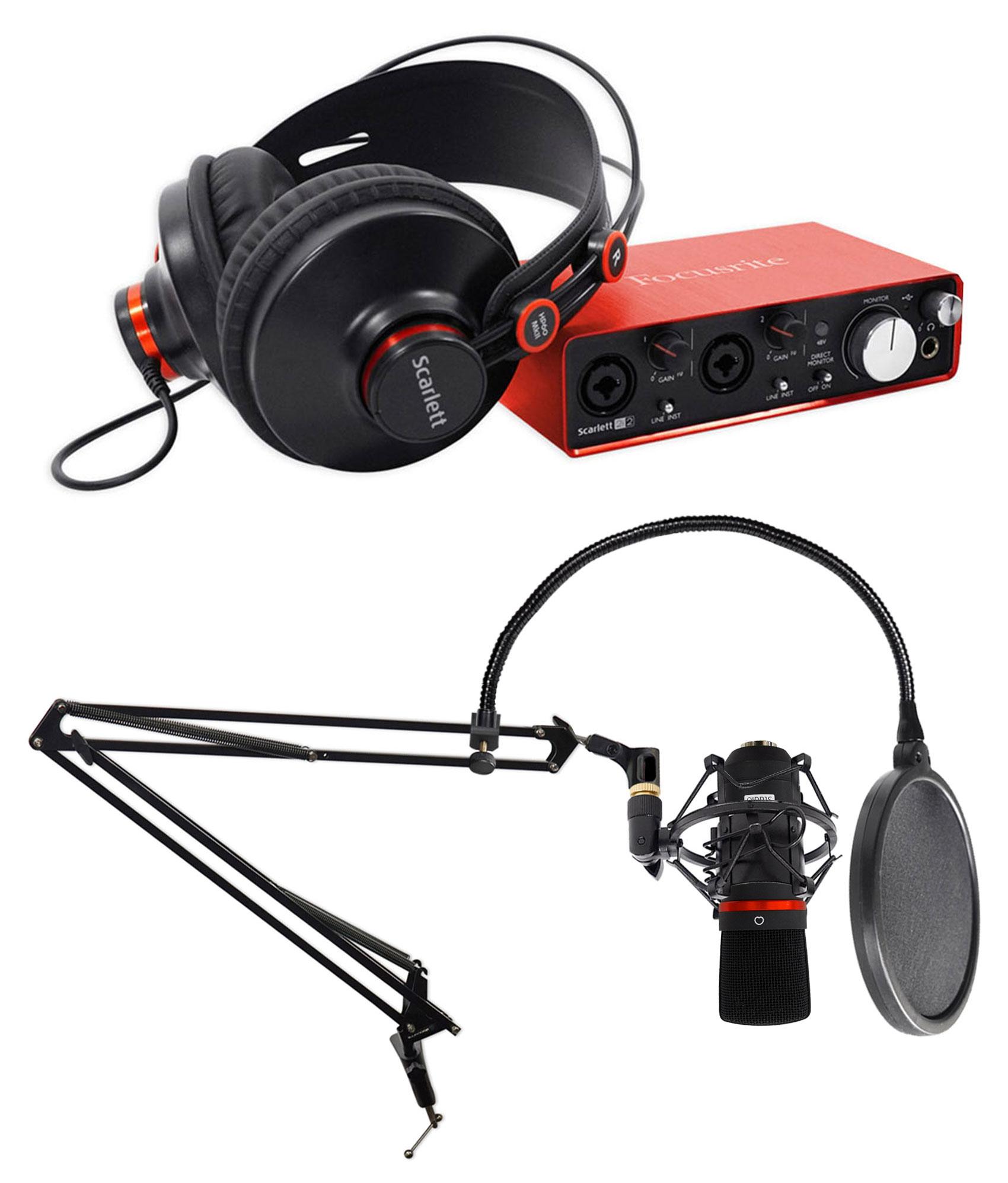 d7b37078000 Focusrite Scarlett 2i2 Gaming Streaming Twitch Kit w/Interface+Mic+ ...
