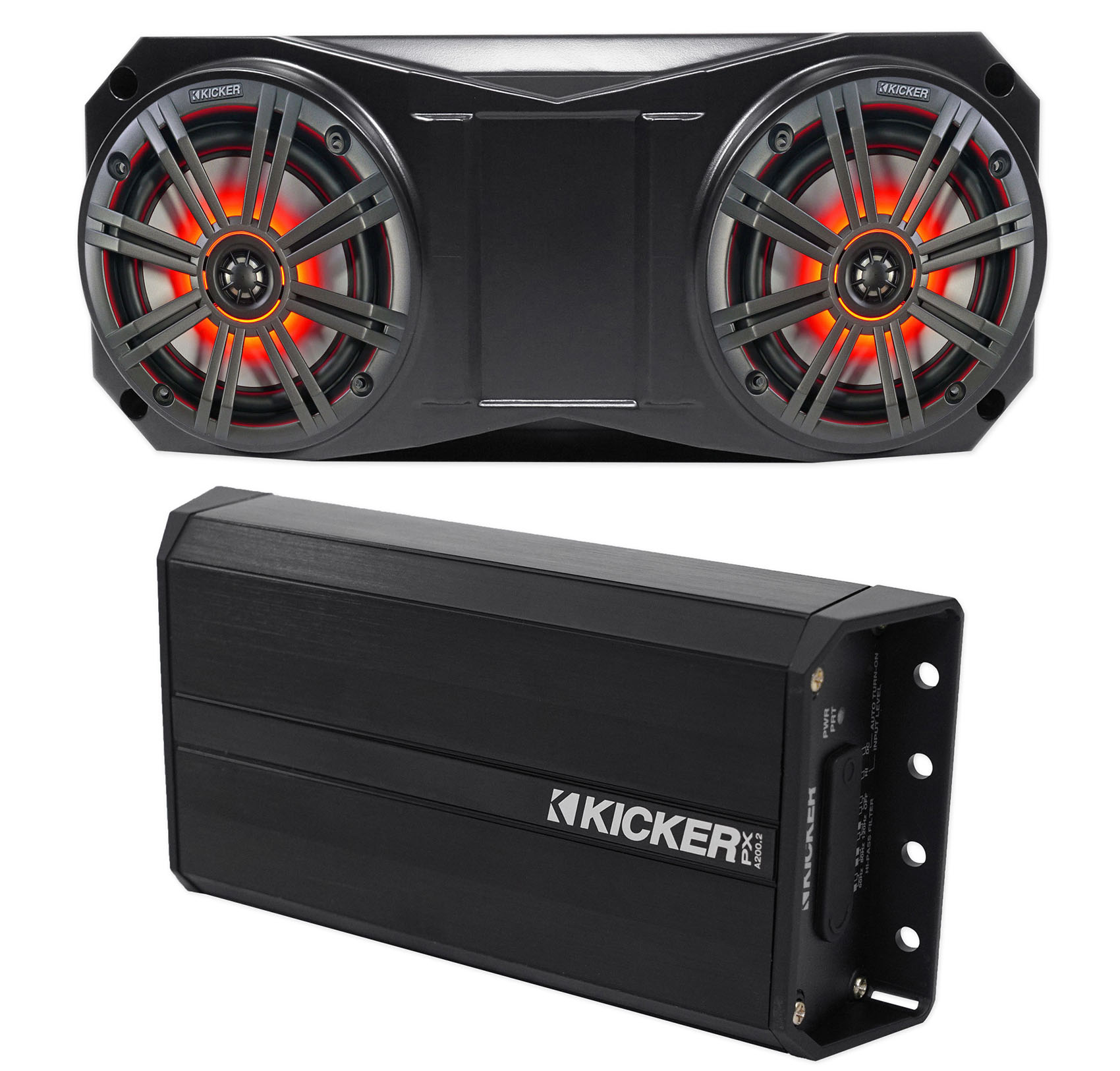 Kicker 42PXA200.2 200w 2-Ch Amplifier Polaris//Motorcycle//ATV//UTV//RZR//Cart+Wires