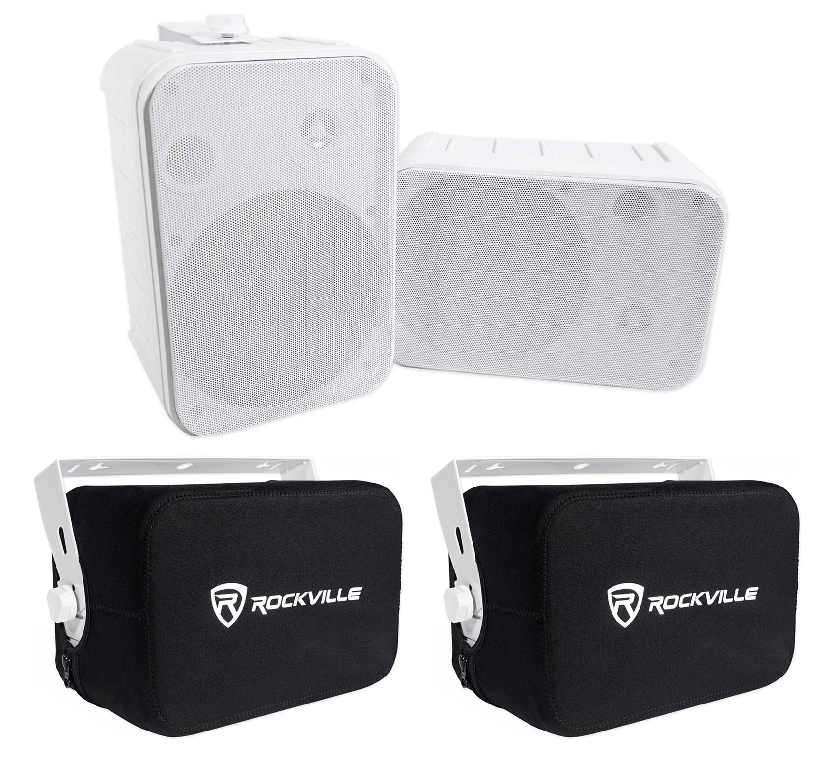 """Pair Rockville HP65S 6.5/"""" Outdoor//Indoor Home Theater Speakers w// Swivel Bracket"""