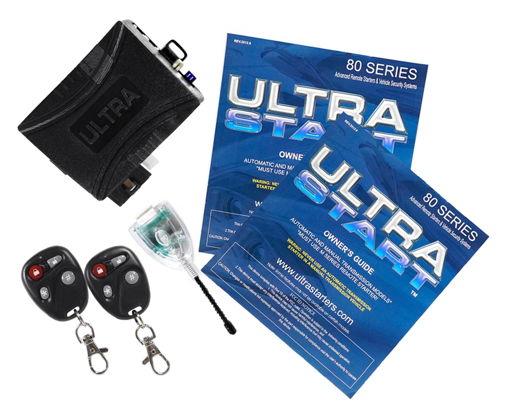 ultrastart u1280 dp 2800 ft foot car remote starter keyless entry