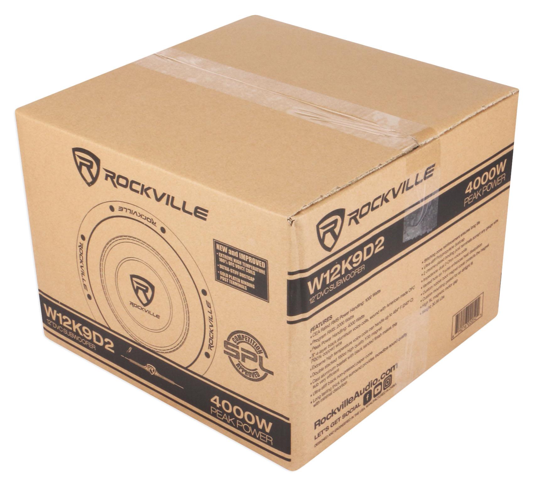 """Bedlined Sealed Subwoofer Enclosure Box Rockville RS12B Single 12"""" 1.0 cu.ft"""