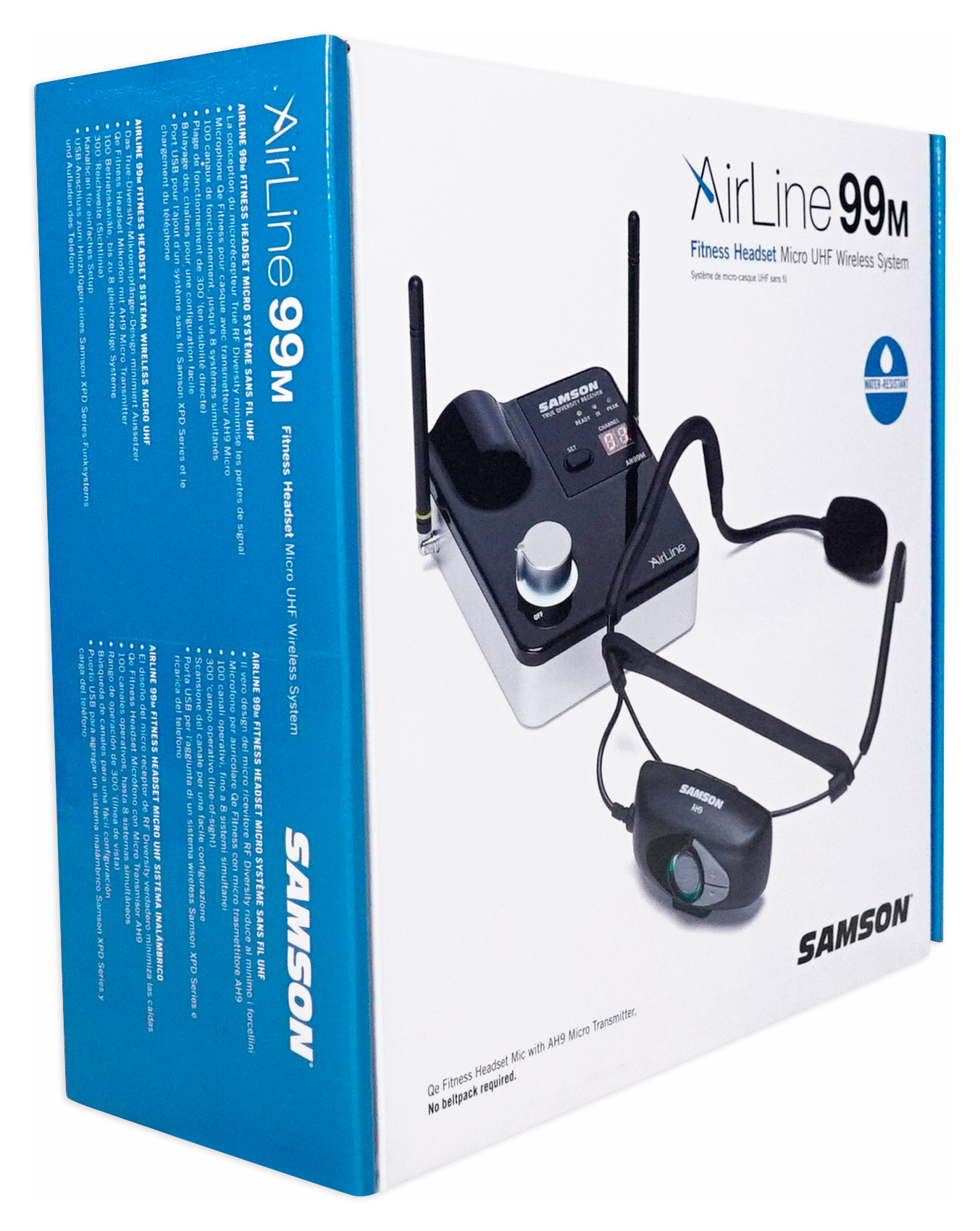 Samson Airline 99m Ah9 Wireless Uhf Rechargeable Fitness Headset