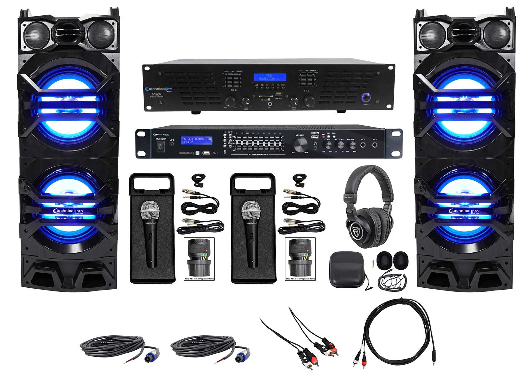 Stereo Verstärker Bluetooth Digital Power Amplifier FM Audio MP3 Doppelmikrofon