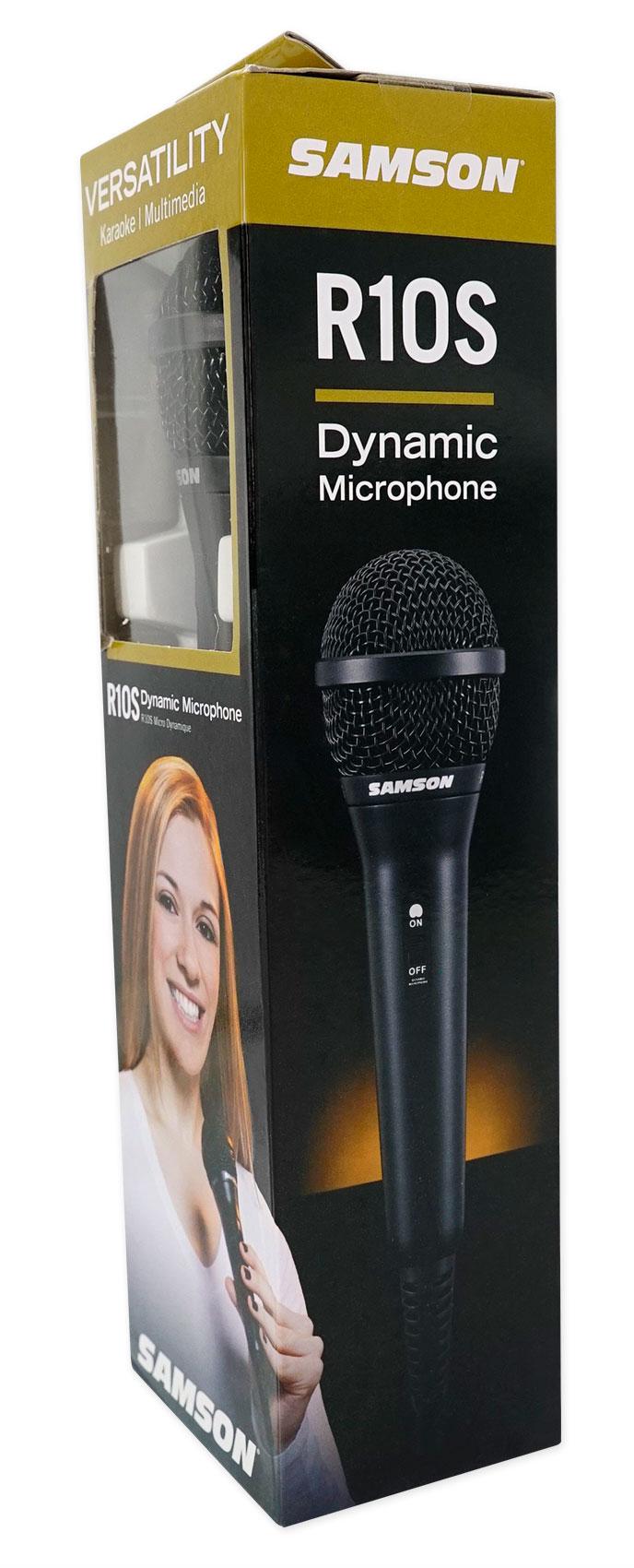 Details about Samson R10S Karaoke Microphone Neodymium Handheld Vocal Mic +  Desktop Stand