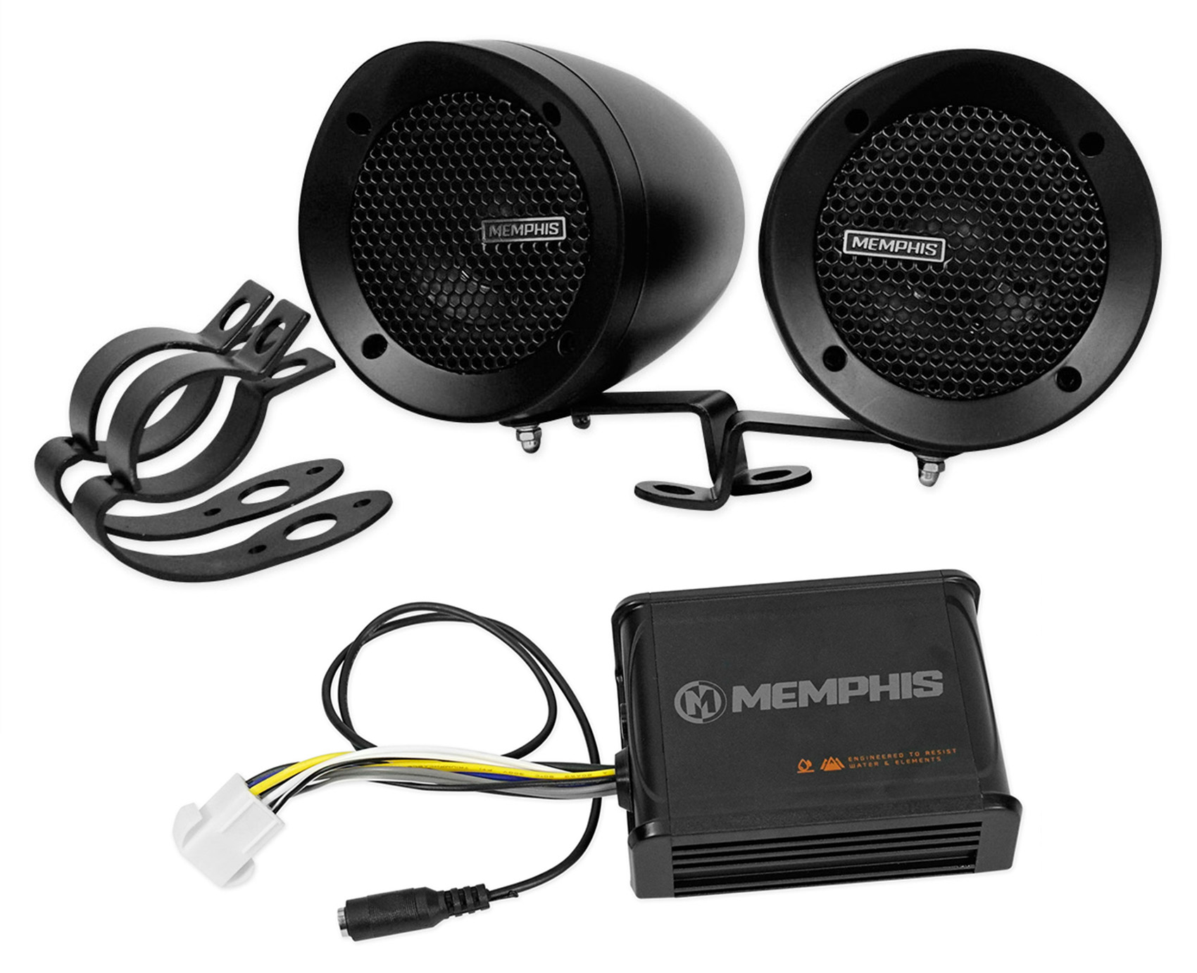 Memphis Audio ATV Audio System w//Handlebar Speakers for Honda Rancher 420