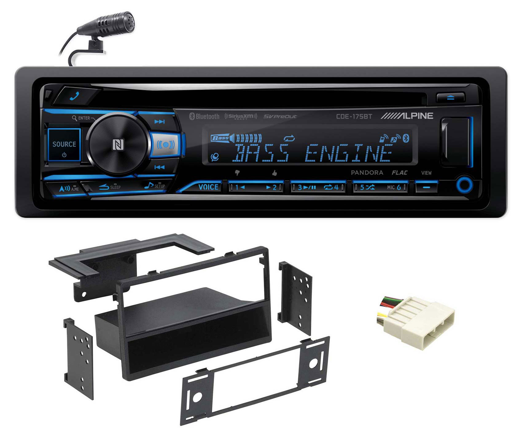 ALPINE Bluetooth CD Player USB/AUX SiriusXM For 1996-1998