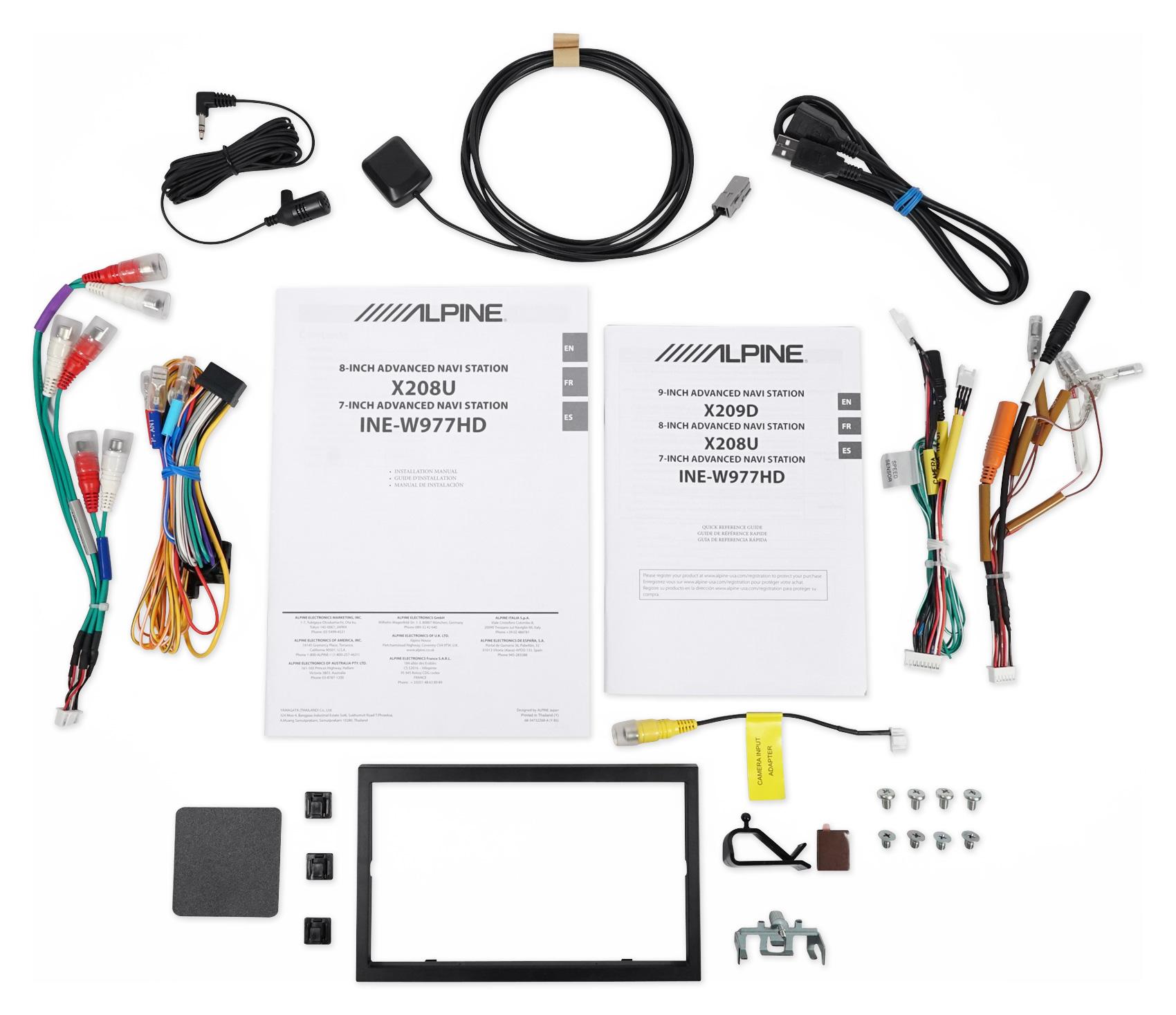 """Alpine 7"""" Bluetooth Receiver W/Navigation/GPS/Carplay For"""