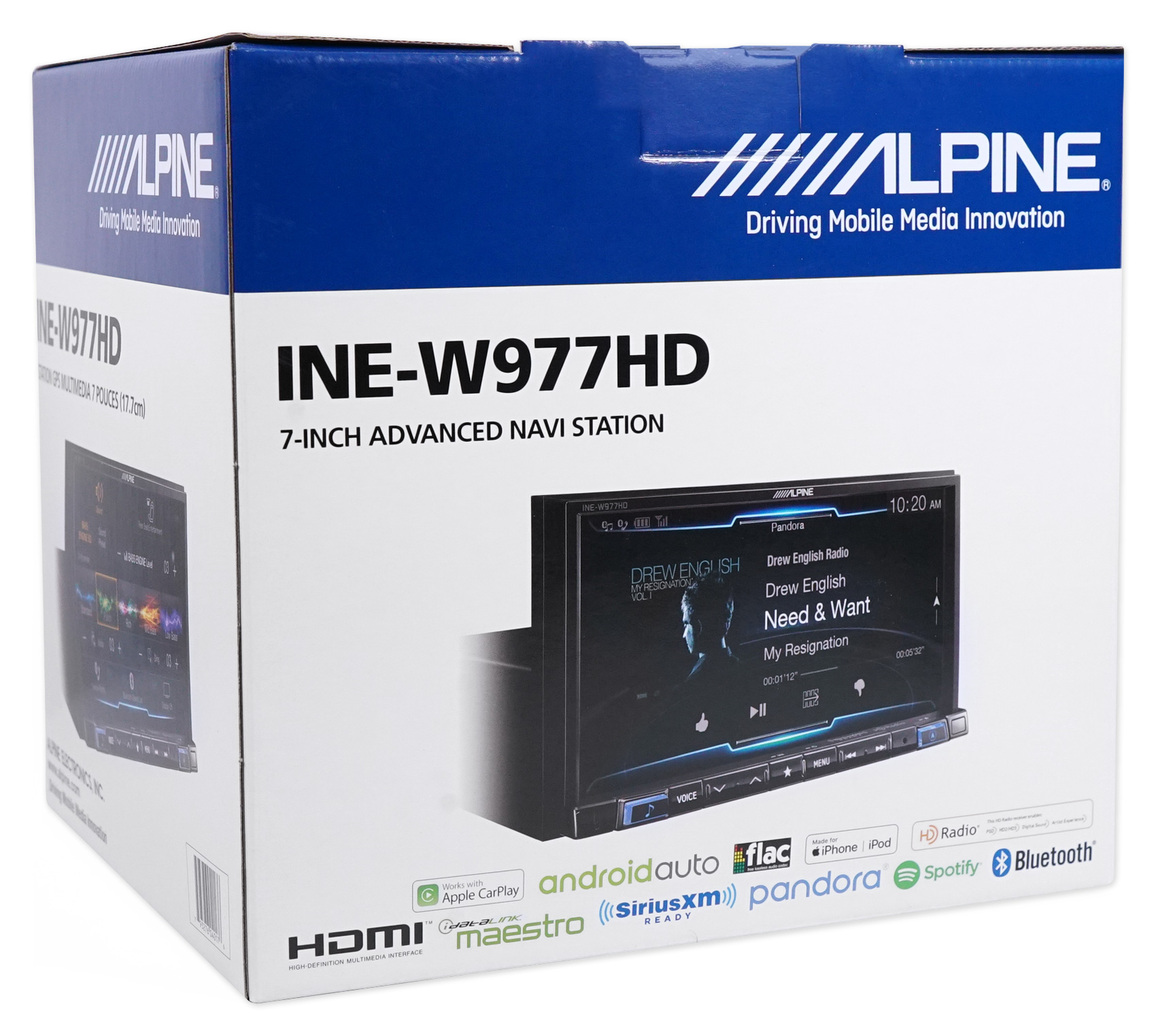 "Alpine 7"" Bluetooth Receiver W/Navigation/GPS/Carplay For"