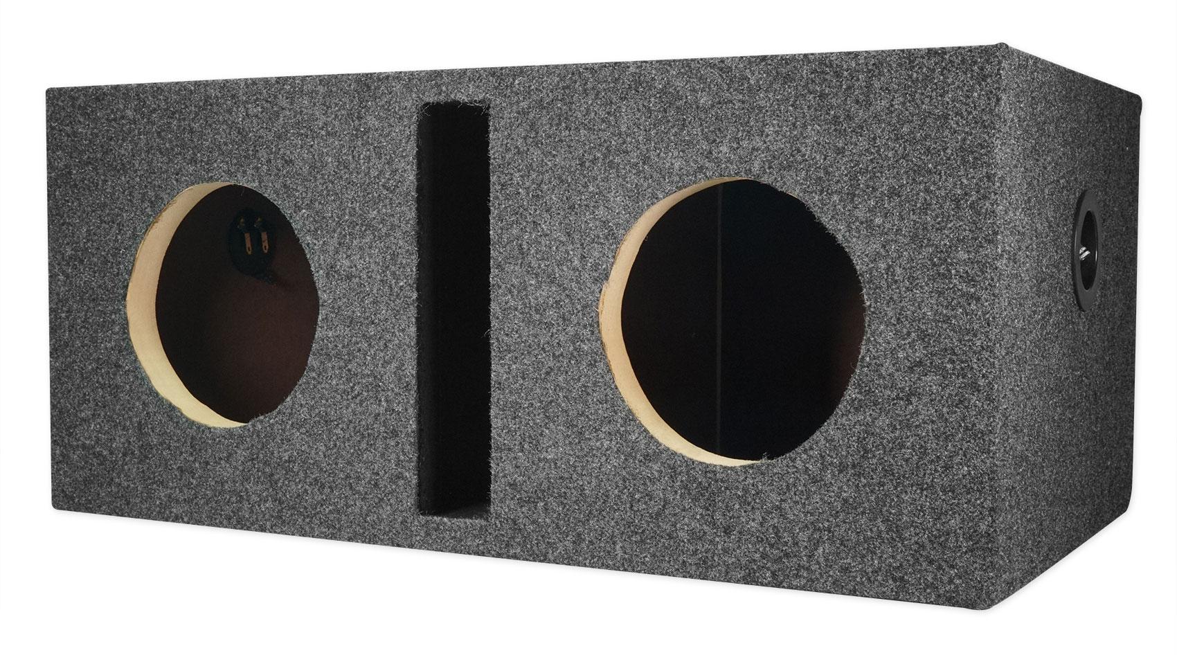 """Rockville RDVB12 Dual 12/"""" 1.75 cu.ft MDF Vented//Ported Subwoofer Enclosure Box"""