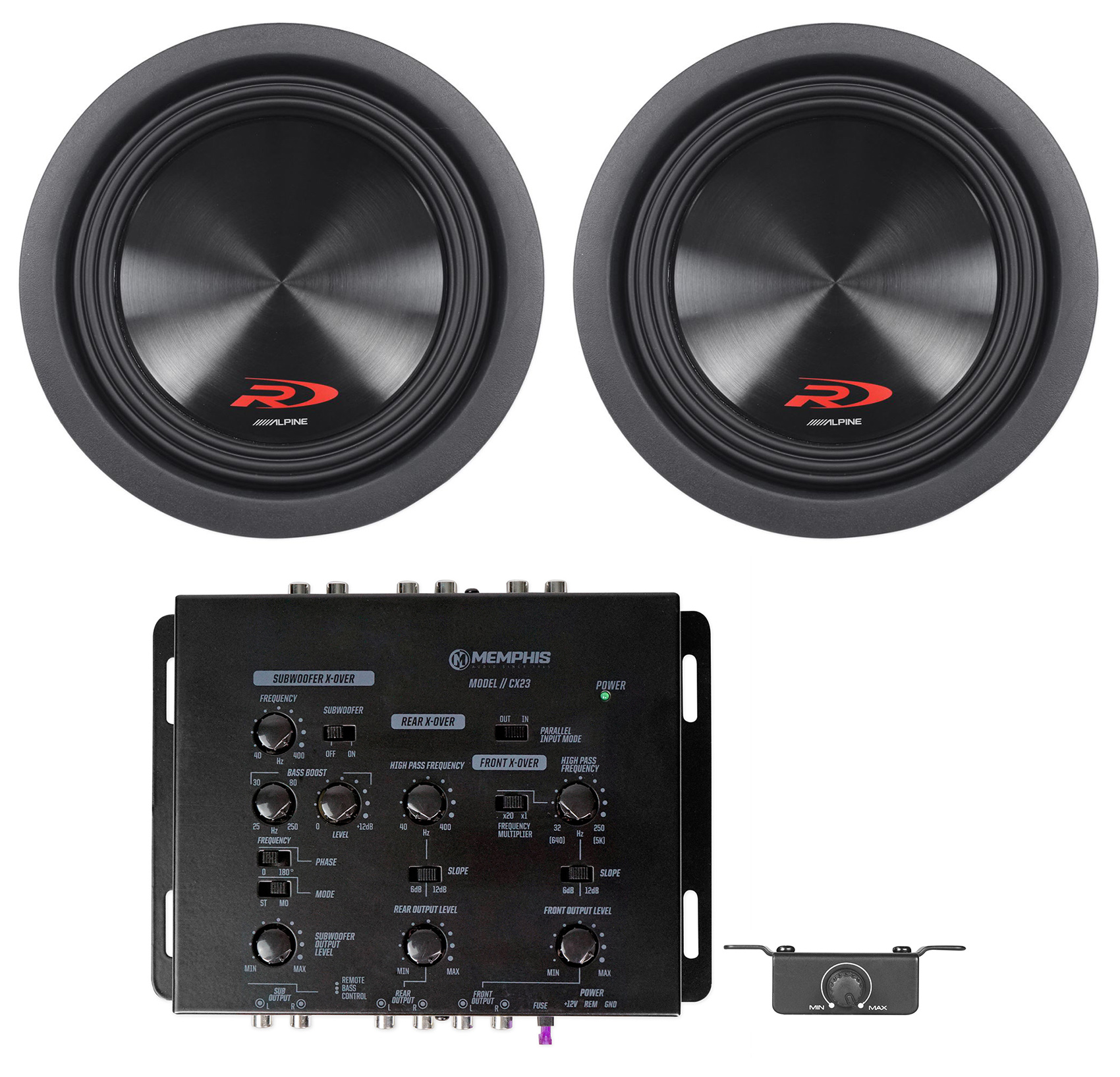 "ALPINE 1000W 8/"" Type-R Series Dual 2 ohm Car Subwoofers Pair SWR-8D2 2"
