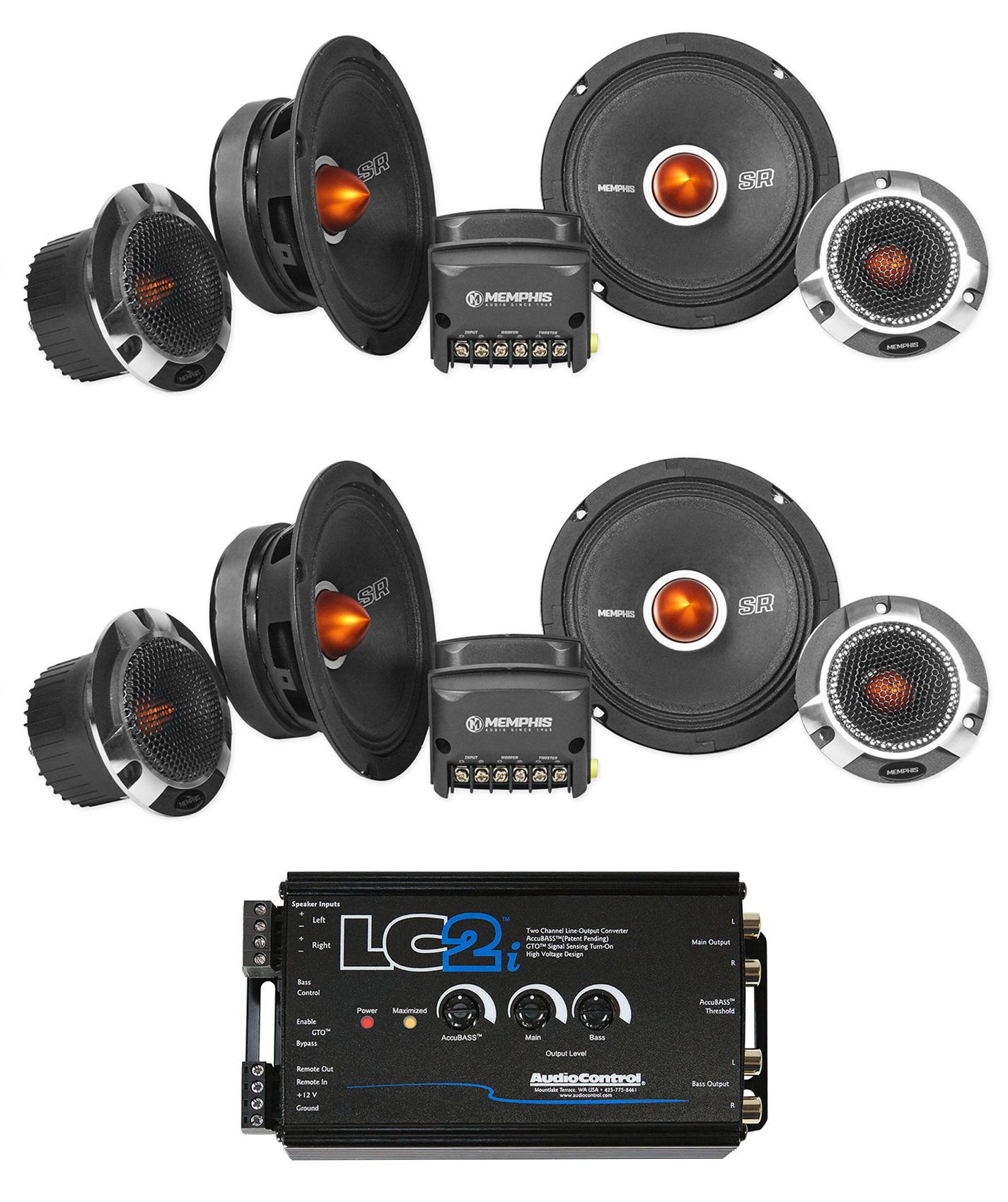 Memphis SRXP62C 6.5 125W RMS 2-Way Component Speakers System