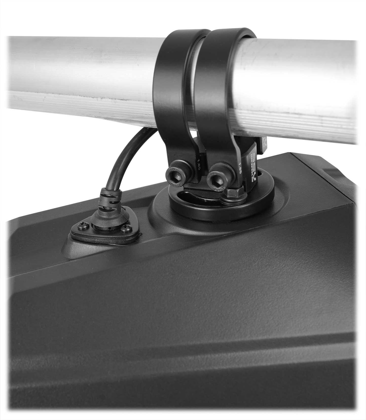 2 Rockville 8 Silver Tower Speaker Pod Enclosure For Polaris RZR//ATV//UTV//Cart