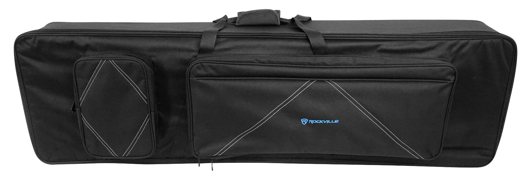 Rockville 88 Key Slim Padded Rigid Keyboard Gig Bag Case For KORG SP-500