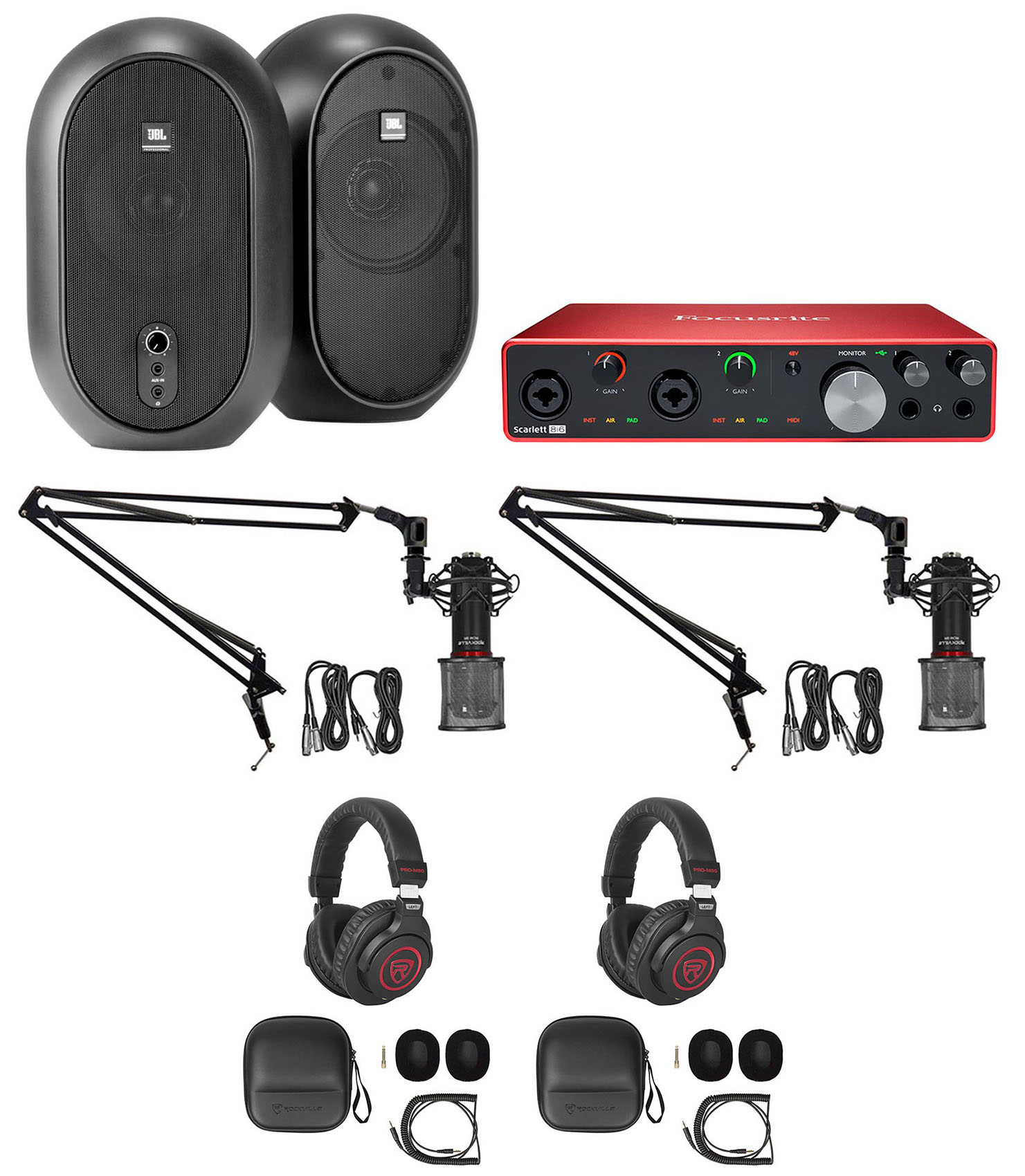 Rockville RCM SR Studio//Recording Condenser Microphone Mic w// Samsung Capacitors