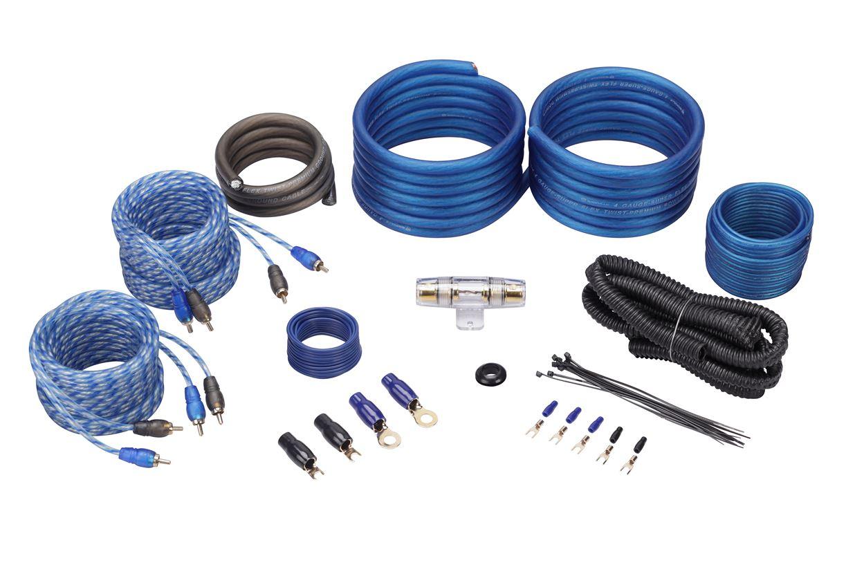 Alpine BBX-F1200 600 Watt 4//3//2 Channel Car Amplifier Class A//B 2-ohm+Amp Kit