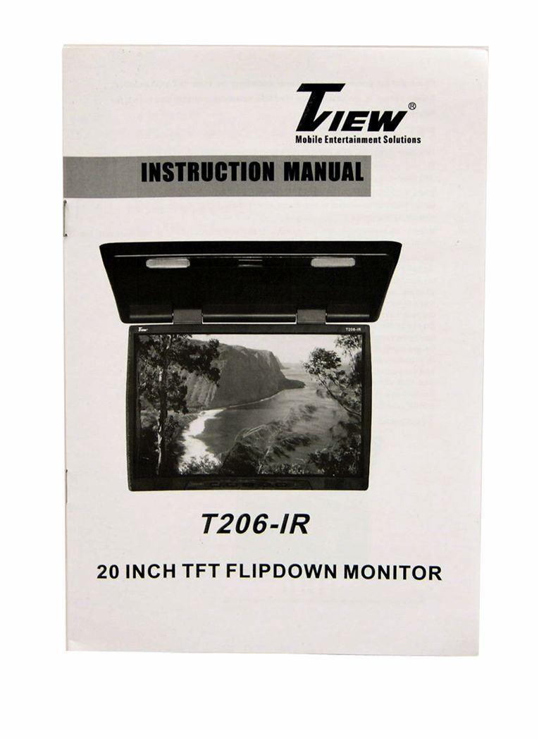 Tview T206ir 20 U0026quot  Thin Flip Down Tft Car    Truck Video